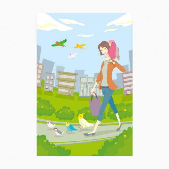 鳥と出かけよう ポストカード