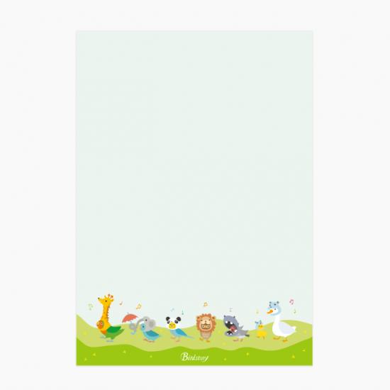 BIRDZOO メモ帳 商品の様子