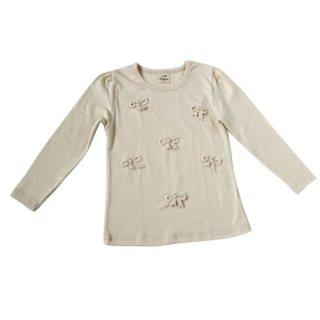 韓国 子供服〈女の子用長袖Tシャツ〉