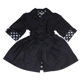 韓国 子供服〈女の子用黒ワンピースコート〉