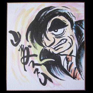 山森ススム 肉筆サイン画 小 006