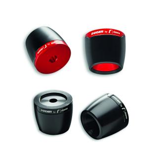 ビレットアルミニウム製ハンドルバー用カウンターウェイト。RED