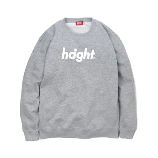 HAIGHT / Round Logo Crew Sweat - Gray