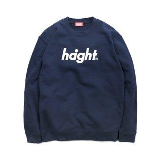 HAIGHT / Round Logo Crew Sweat - Navy