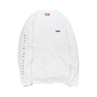 HAIGHT / Round Logo L/S Tee - White