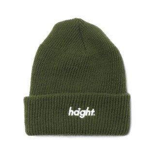 HAIGHT / Round Logo Knit Cap - Olive