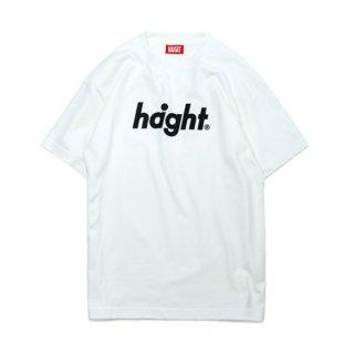HAIGHT / Round Logo S/S T-Shirt - White