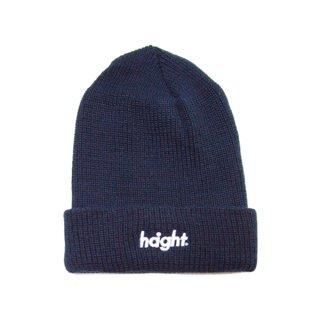 HAIGHT / Round Logo Knit Cap - Navy
