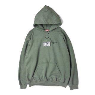HAIGHT / Box Logo Warm Hoodie - Olive