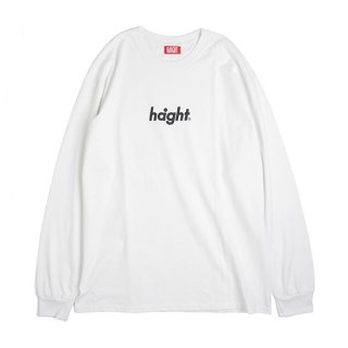 HAIGHT / Round Logo L/S Tee 18 - White