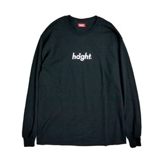HAIGHT / Round Logo L/S Tee 18 - Black