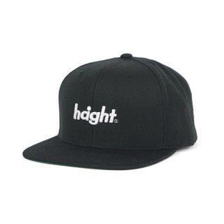 HAIGHT / Round Logo Snap Back Cap - Black