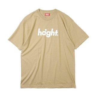 HAIGHT / Round Logo T-Shirt - Beige