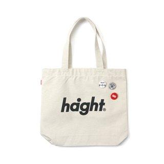 HAIGHT / Round Logo Canvas Tote Bag - Natural