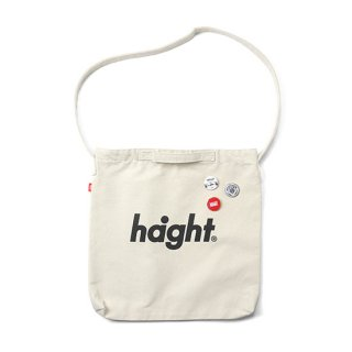 HAIGHT / Round Logo Canvas Shoulder Bag - Natural