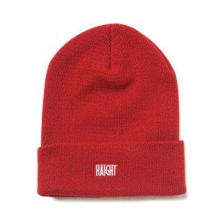 HAIGHT / Box Logo Knit Cap - Red