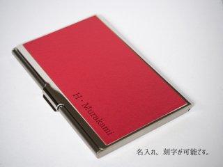 カ−ドケ−ス 名刺入れ 天然皮革  RED