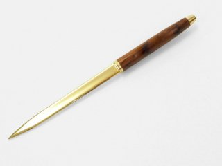 ペーパーナイフ( 色 ゴールド 柄 ブビンガ)266