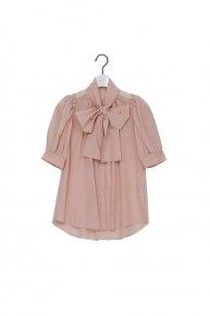 big ribbon blouse / pink  </a> <span class=