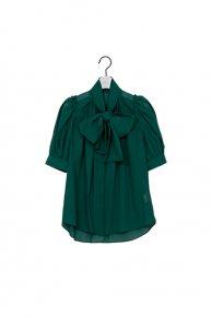 big ribbon blouse / green  </a> <span class=