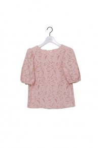 re stock:cut jacquard blouse/pink  </a> <span class=