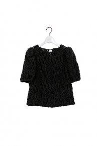 re stock:cut jacquard blouse/black  </a> <span class=