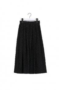 re stock: cut jacquard skirt /black