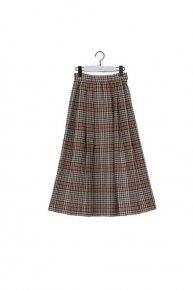check tuck skirt'20 / camel  </a> <span class=