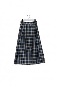 [30%OFF]: check tuck skirt'20 / gray  </a> <span class=