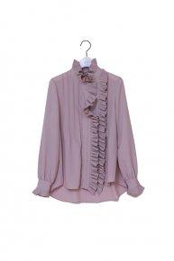 pleats frill blouse/ pinkbeige   </a> <span class=