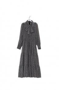 re stock : flower bowtie dress /black  </a> <span class=