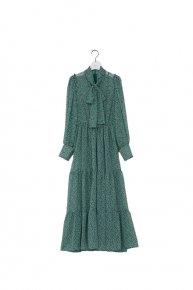 re stock : flower bowtie dress /green  </a> <span class=