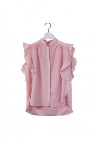 new:pleats frill blouse/pink   </a> <span class=