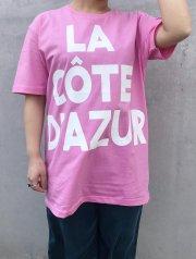 m's braque/LA COTE D'AZUR ロゴプリント Tシャツ
