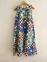 ELEY KISHIMOTO×MASTER&CO/FLOWERS ON TILES 2WAY SLEEVELESS DRESS