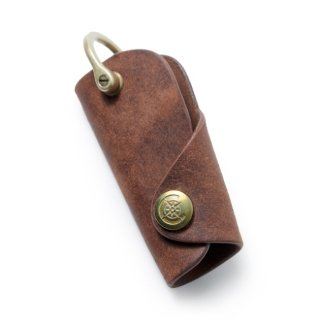 Button Hook Key Case〈Brown〉