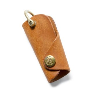 Button Hook Key Case〈Camel〉
