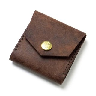 Square Coin Case〈Brown〉