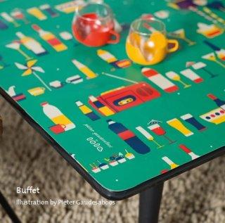ロラ テーブルクロス 切り売り ビュッフェ ピクニックのイラスト