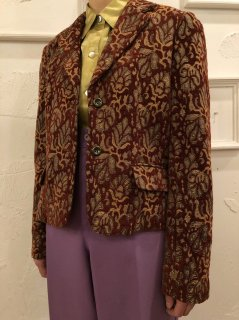 Vintage Gobelin Tailored Jacket Brown<img class='new_mark_img2' src='https://img.shop-pro.jp/img/new/icons50.gif' style='border:none;display:inline;margin:0px;padding:0px;width:auto;' />