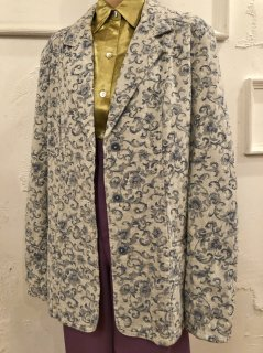 Vintage Gobelin Tailored Jacket Pale Grey<img class='new_mark_img2' src='https://img.shop-pro.jp/img/new/icons50.gif' style='border:none;display:inline;margin:0px;padding:0px;width:auto;' />