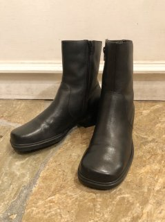 Vintage Black Leather Heel Boots 24.5cm<img class='new_mark_img2' src='https://img.shop-pro.jp/img/new/icons50.gif' style='border:none;display:inline;margin:0px;padding:0px;width:auto;' />