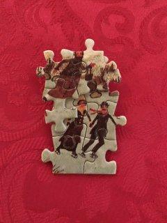 Vintage Handmade Puzzle Brooch