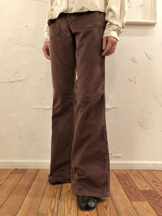 Vintage/Deadstock 70'S Wrangler Flare Pants Brown M(29inch)<img class='new_mark_img2' src='https://img.shop-pro.jp/img/new/icons50.gif' style='border:none;display:inline;margin:0px;padding:0px;width:auto;' />