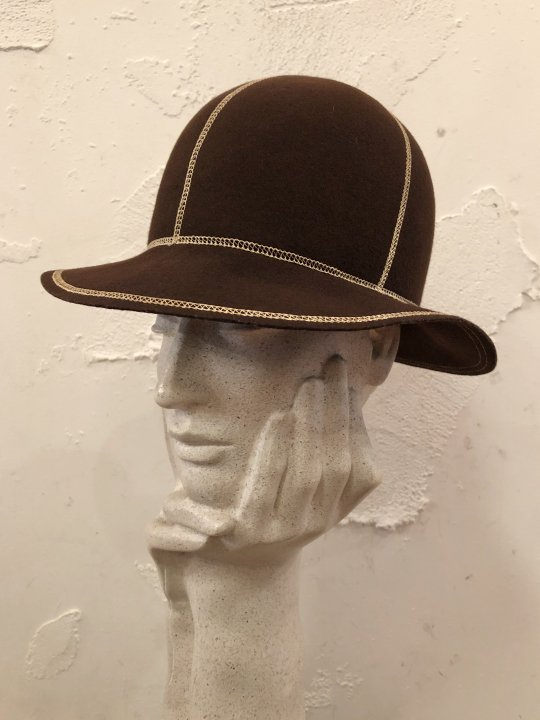 Vintage Stitch Design Felt Hat S-M