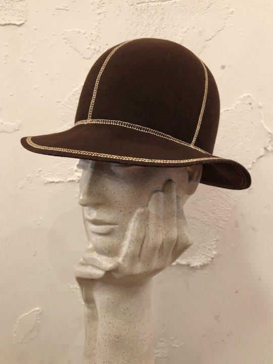 Vintage Stitch Design Felt Hat S-M