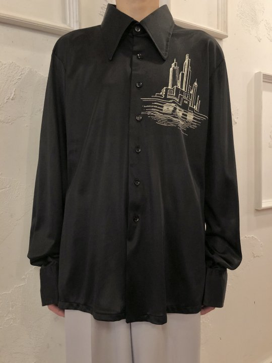 Vintage NEW YORK Motif Jersey Shirt L