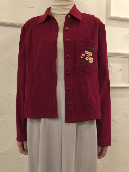 Vintage Faux Suede Shirt Jacket S<img class='new_mark_img2' src='https://img.shop-pro.jp/img/new/icons50.gif' style='border:none;display:inline;margin:0px;padding:0px;width:auto;' />