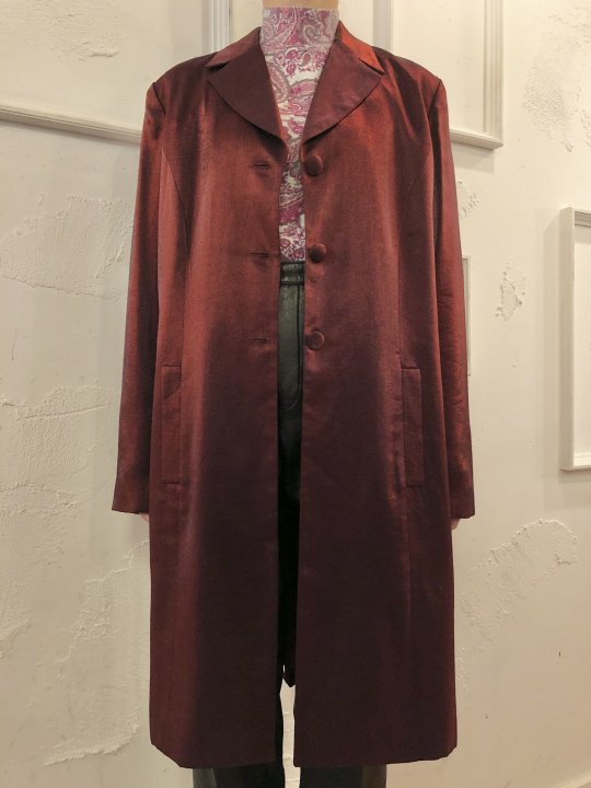 Vintage Burgundy Metallic Coat M