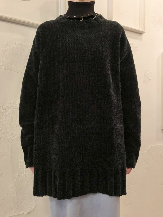 Vintage Black Mole Knit Sweater L<img class='new_mark_img2' src='https://img.shop-pro.jp/img/new/icons50.gif' style='border:none;display:inline;margin:0px;padding:0px;width:auto;' />